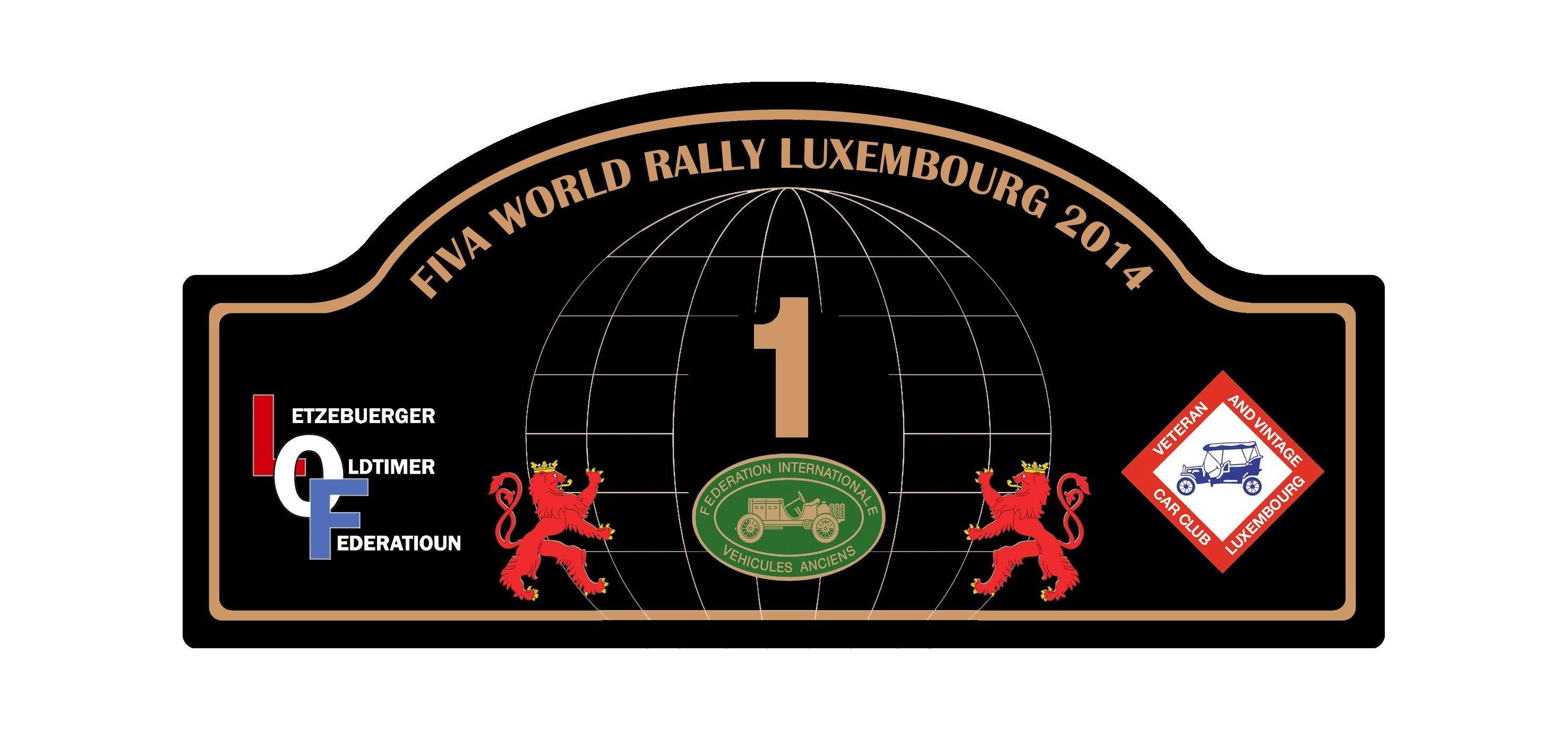 Plaque Rally FWRL 2014
